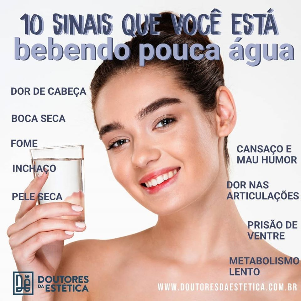 10 Sinais que você esta bebendo pouca água